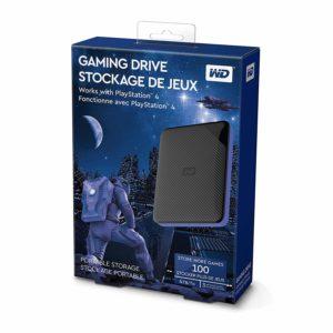 WD Gaming-Speicher 4 TB mobile externe Festplatte schwarz blau für PS4