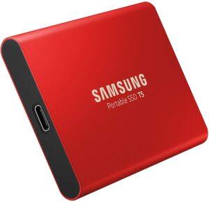 Samsung MU-PA1T0R EU Portable SSD T5 1 TB USB 3.1 Externe SSD Rot